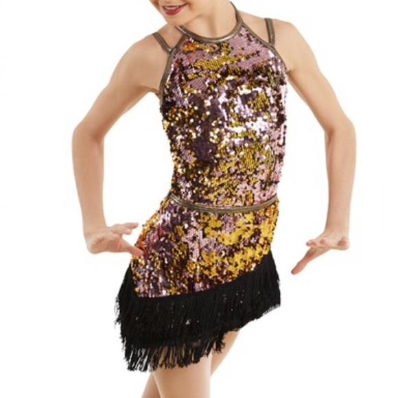 Weissman•2 in 1 Sequin Ballet Jazz Dance Costume